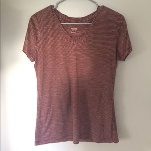 Maroon and white striped Mossimo T-shirt